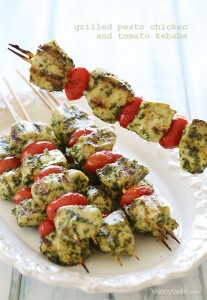 grilled pesto kabobs