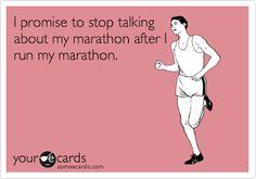 talk about my marathon
