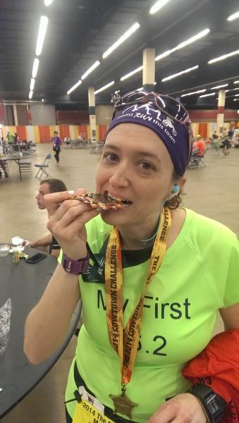 Cowtown marathon medal2