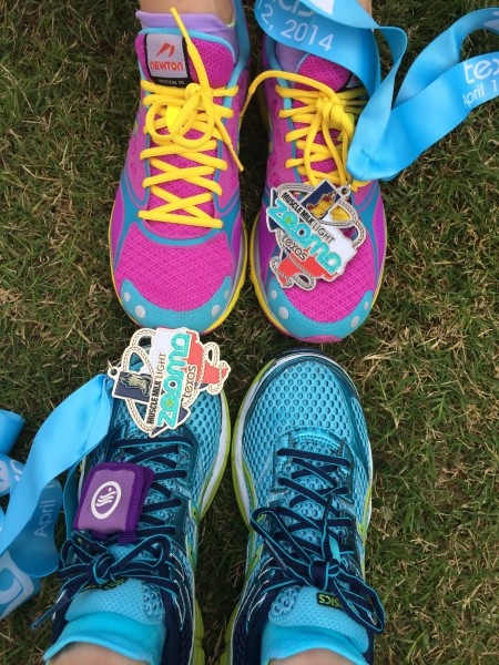 Zooma shoes and medals