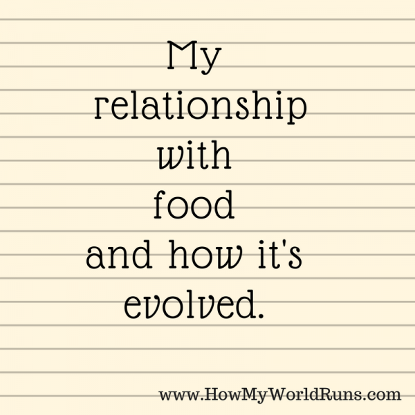 My relationshipwith food and how it's evolved.